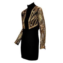 80-s Bob Mackie Beaded Bolero Dress