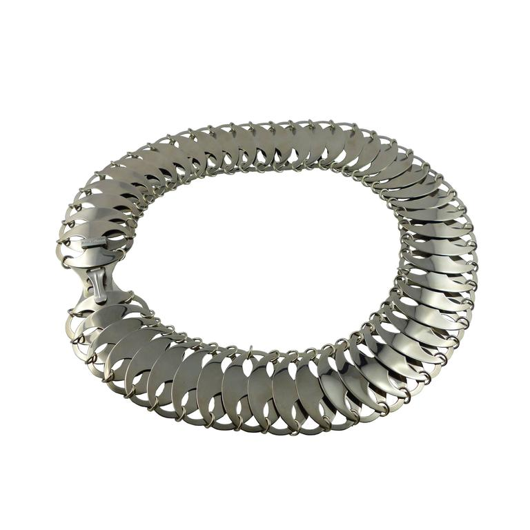 Paco Rabanne Metal Chain Mail Disk Belt