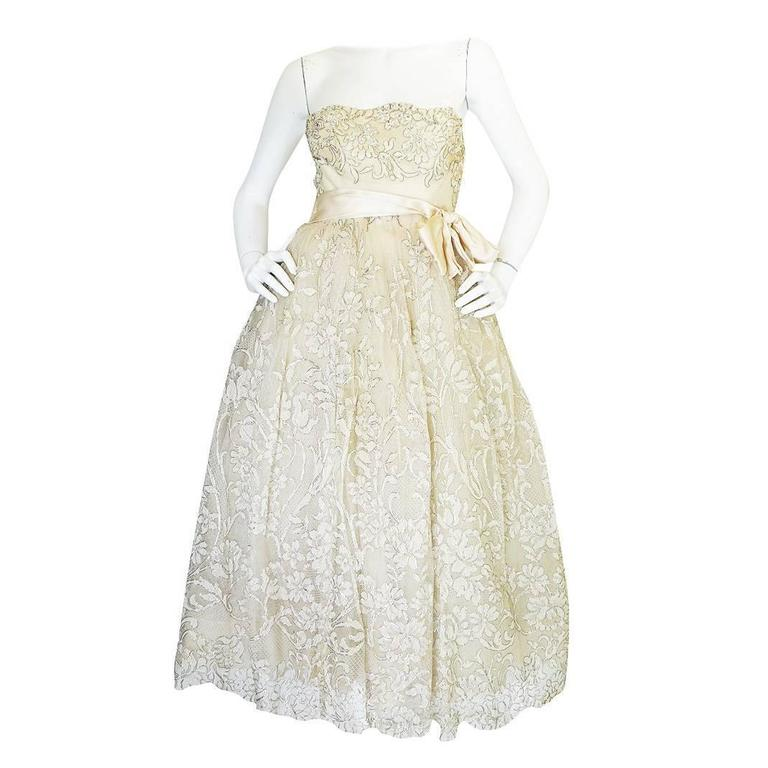 Important S 1959 Haute Couture YSL For Christian Dior Dress 1