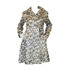 Stunning Late 1950s Metallic Ceil Chapman Silk Brocade Coat