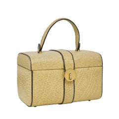 1960's Tan Box Bag