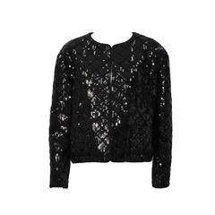 1990's Chanel Black Sequin Matelasse Jacket