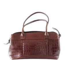 Brunello Cucinelli Bag Luxurious Rich Bronzed Brown Crocodile Tote