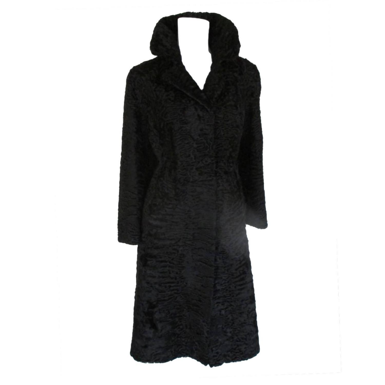 94f3f19f84d Black swakara persian lamb Astrakhan fur coat