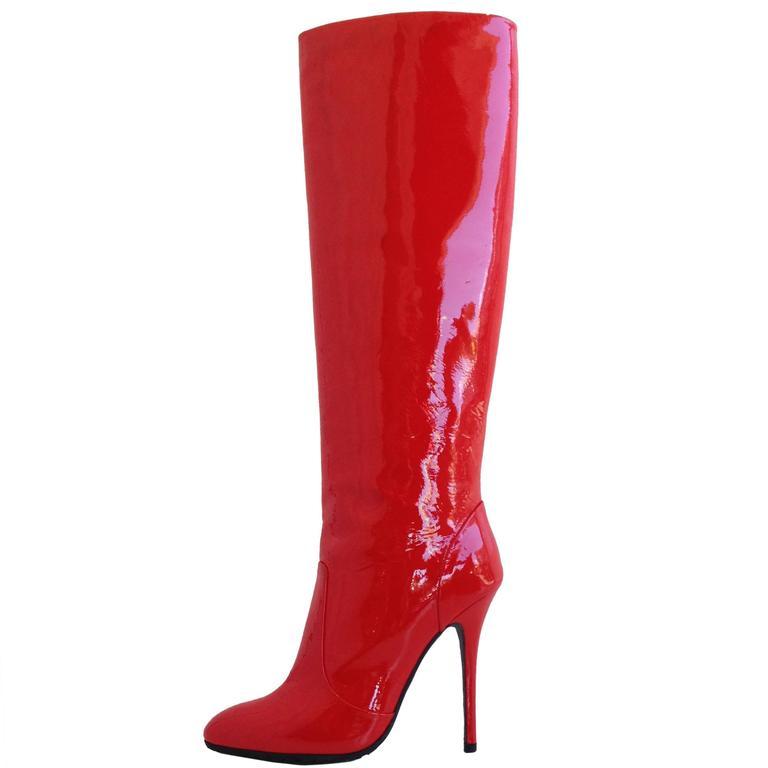 giuseppe zanotti patent knee high boots size 37 6 5