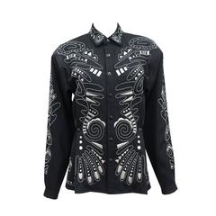 1980s Kansai Yamamoto embellished black tailored jacket
