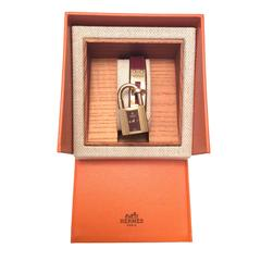 Hermes Kelly Watch - Gold Tone - Burgundy with Matching Strap