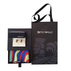 New Freywille Enamel Earrings with Matching Scarf Gift Set