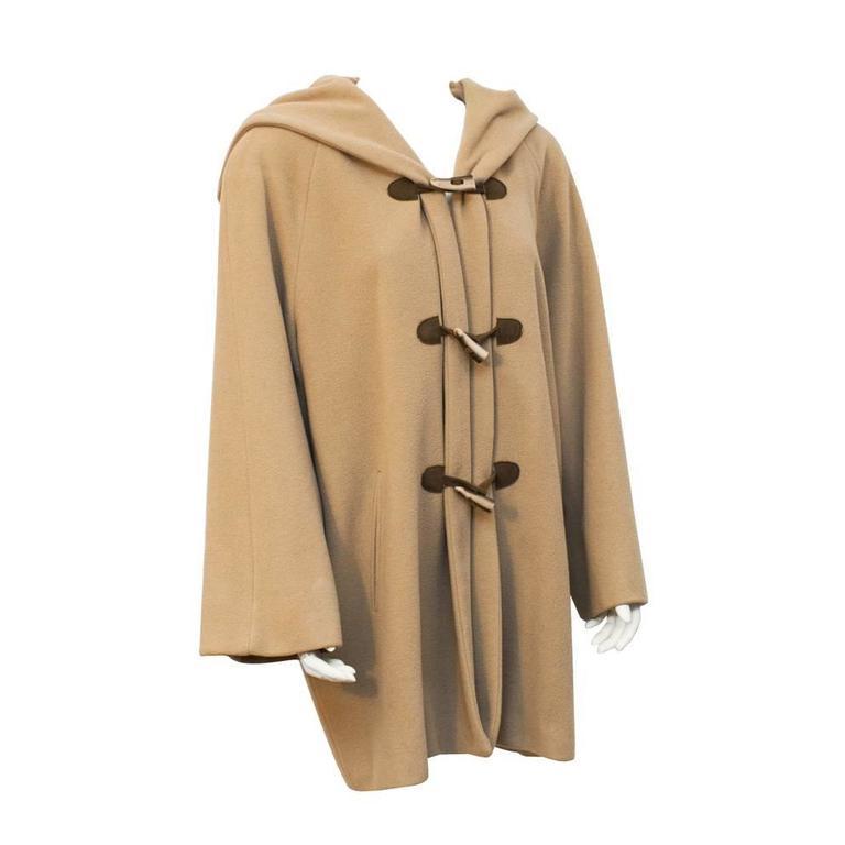 1980's Giorgio Armani Camel Toggle Swing Coat