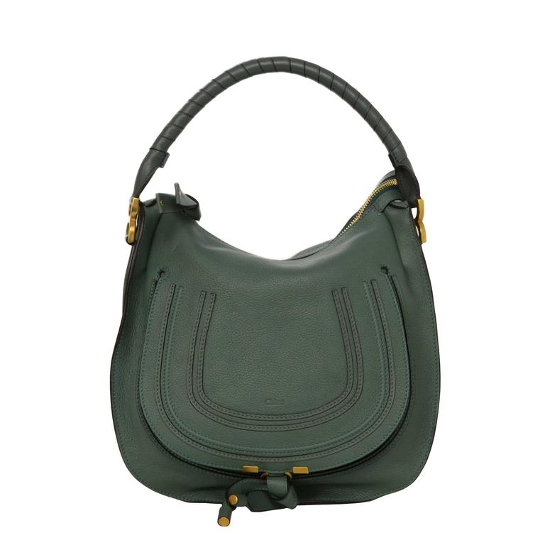 6091a17e9ce Chloe Green Leather Medium Marcie Hobo Bag GHW at 1stdibs