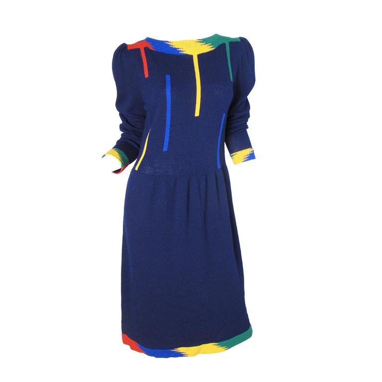 1970s Adolfo Knit Dress  1