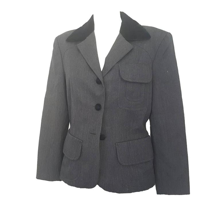 1990s Moschino Cheap & Chic grey jacket For Sale