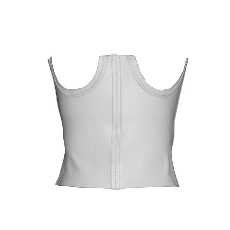 Iconic Tom Ford Gucci 2001 Runway Collection White Leather Under-bodice Corset! 1