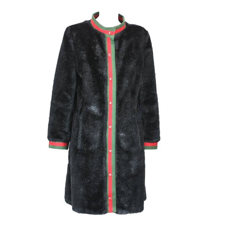 Calvin Klein Faux Fur Coat For Sale