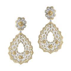 Open Lace Clip Earrings