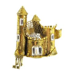 Mercedes Robirosa Haunted Castle Pin Brooch