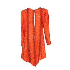 Thea Porter Orange Embroidered Tunic
