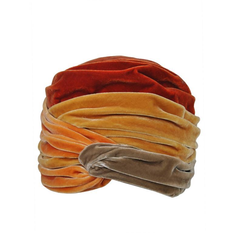 Orange Multi Velvet Turban