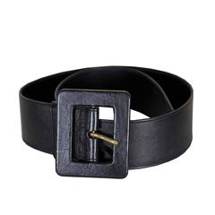 Classic YSL Laurent Wide Leather Belt 36