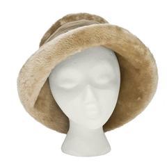1960's Christian Dior Beige Sheared Fur Hat