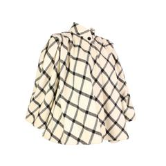 1980's Emanuel Ungaro Wool Check Swing Coat