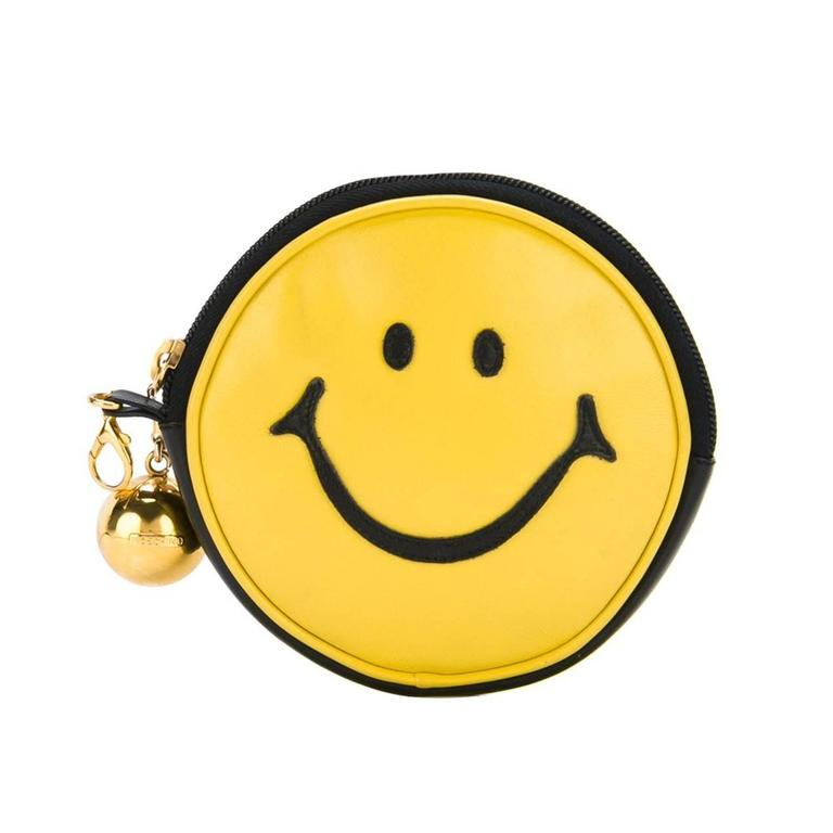 "Moschino Vintage ""Smiley Face"" Pouch For Sale"
