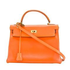 Hermes Orange 32cm Kelly Bag