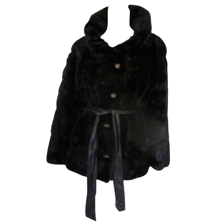 Neiman Marcus Exclusive soft black mink fur jacket