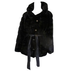 Neiman Marcus Exclusive soft black mink fur jacket