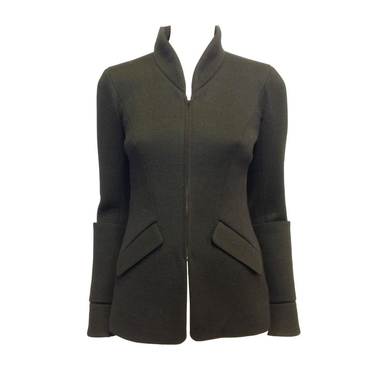Chanel Black Jacket with Zippers Size 36 (4) For Sale