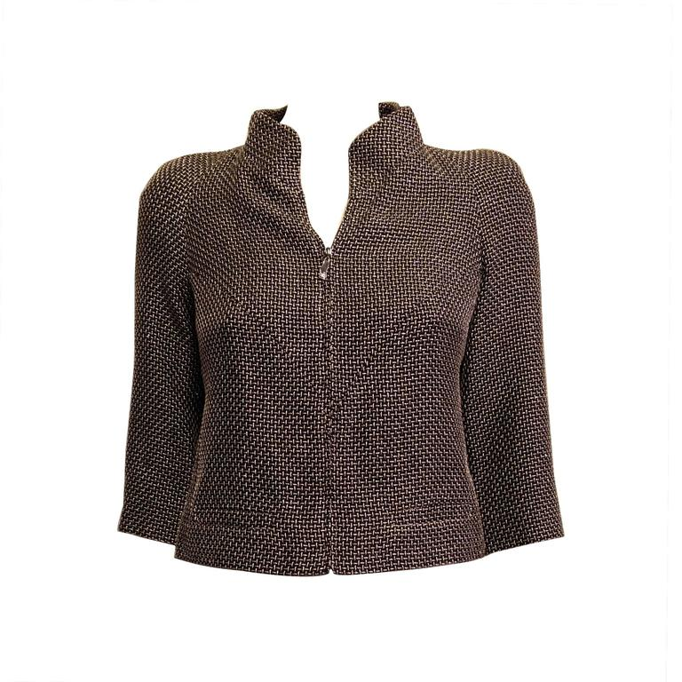 Chanel Black Jacket with Gold and Silver Metallics Size 34 (2) For Sale