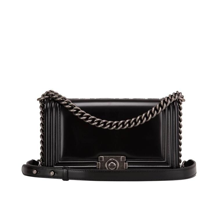 "Chanel Metiers d'art Paris-Salzburg ""CHANEL"" Embossed Medium Boy Bag For Sale"