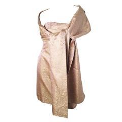 Pamella Roland Pink Silk dress with Wrap
