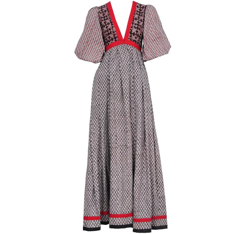 Thea Porter Peasant Dress  For Sale