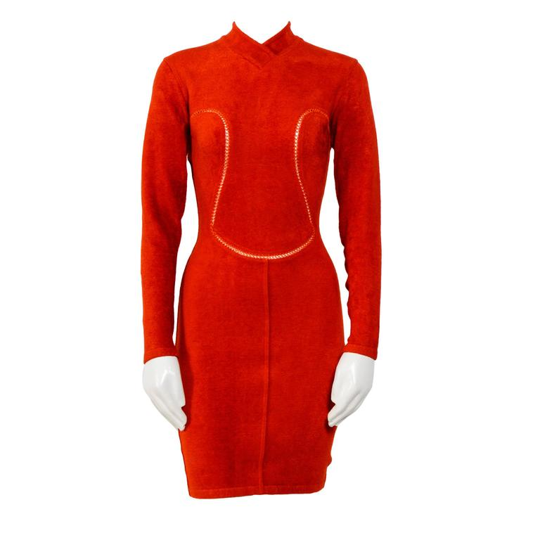 Vintage 90's Iconic ALAIA stretch dress For Sale