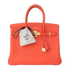 Brand New Hermes Birkin 30 Orange Poppy