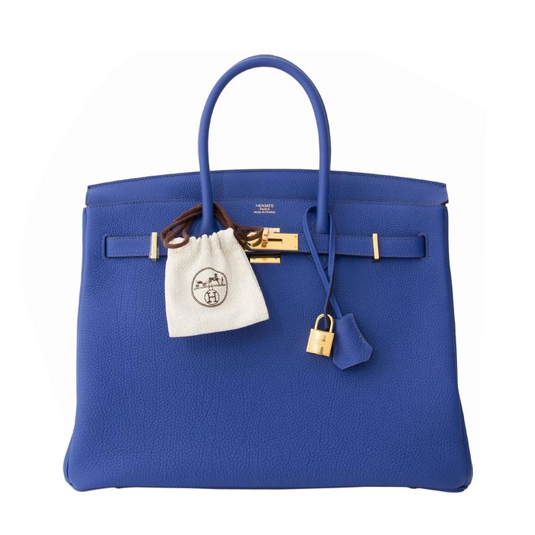 ... hot brand new hermès birkin 35 blue electrique togo ghw for sale b862c  e419f ... 05e9bc3799