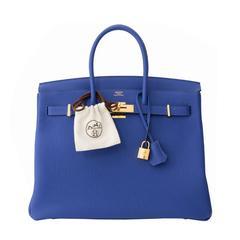 Brand New Hermès Birkin 35 Blue Electrique Togo GHW