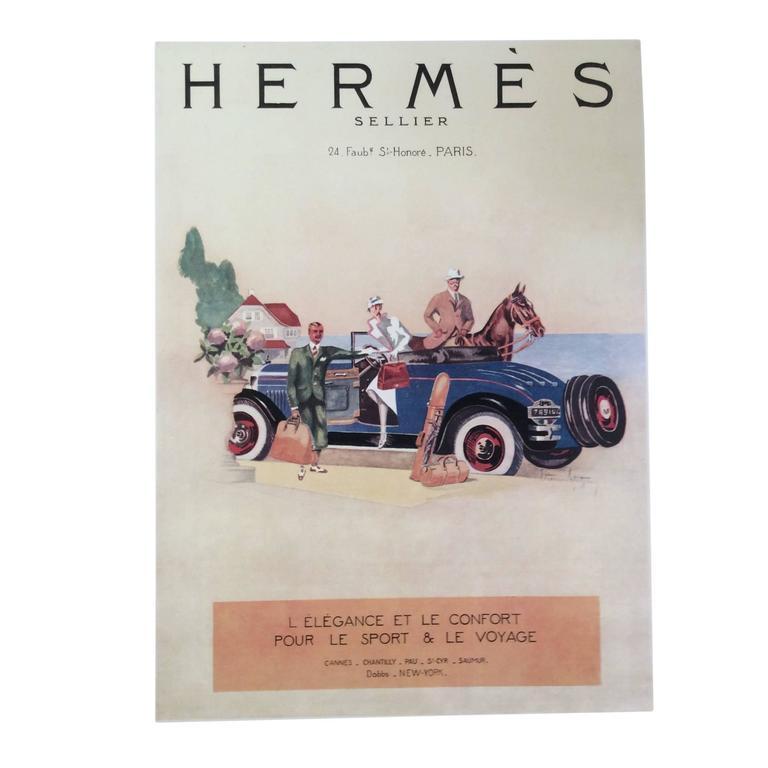 Hermes Ad Print - 1930's 1