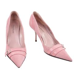CESARE PACIOTTI Italian Pink Pony Hair & Leather PUMPS Classic Heels SHOES 39
