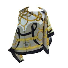 Hermes Eperon d'or cashmere & silk shawl GM by H. d'Origny new in box