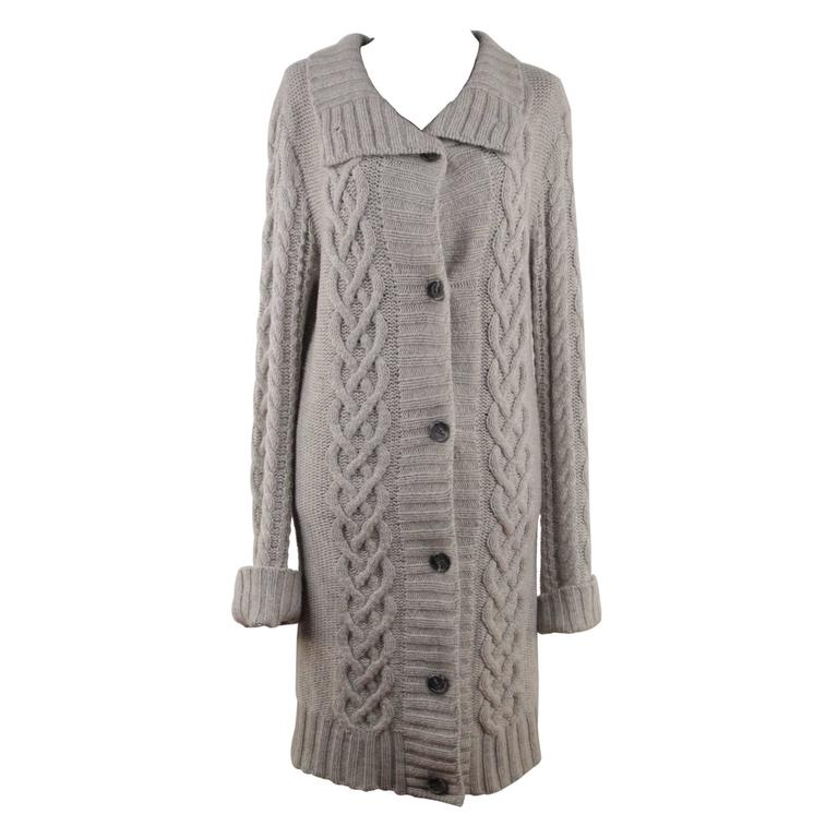 JAMES PERSE LOS ANGELES Gray Grey Cashmere LONG CARDIGAN Sweater ...
