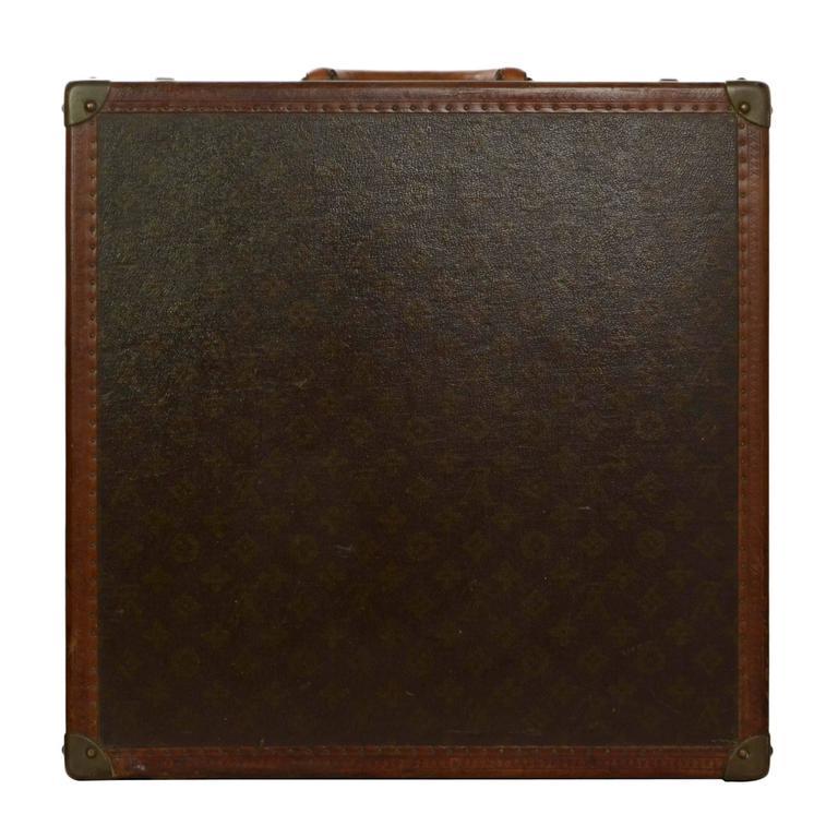 Louis Vuitton Vintage Monogram Square Trunk BHW For Sale