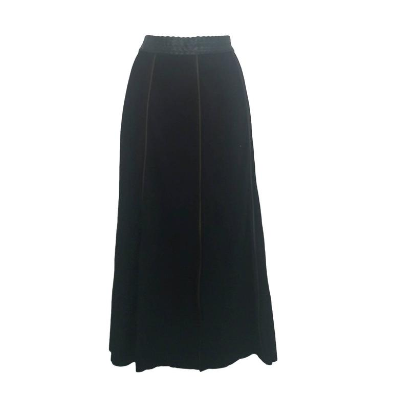 1990s Moschino jeans black skirt