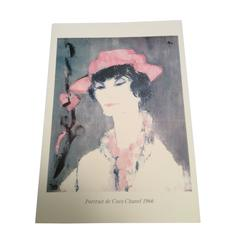 Print of Coco Chanel Portrait from 1960's Rare