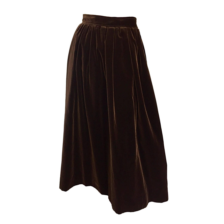 Brown Velvet Skirt 58