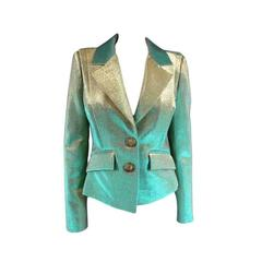 VIVIENNE WESTWOOD Anglomania Size 6 Green & Gold Lurex Sparkle Jacket
