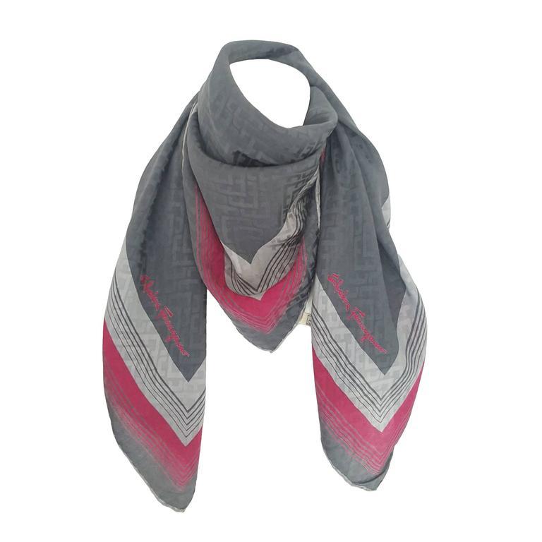 1990s Salvatore Ferragamo multicolour foulard   1
