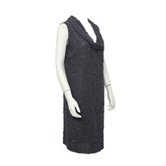 1960s Mr. John Beaded Grey on Grey Dress