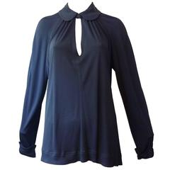 Jean Muir Blue Top / Tunic, 1980s